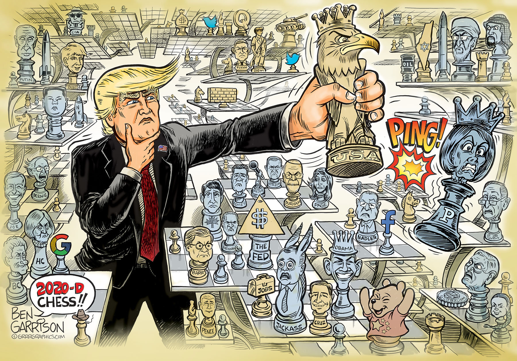 TRUMP IS THE MASTER OF 3D POLITICAL CHESS