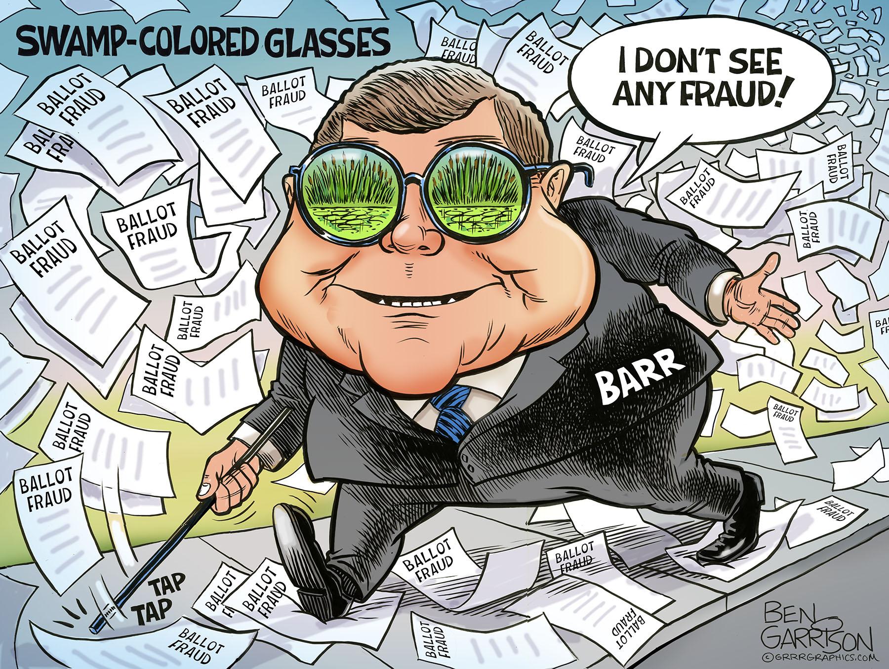 Bill Barr NO BALLOT FRAUD